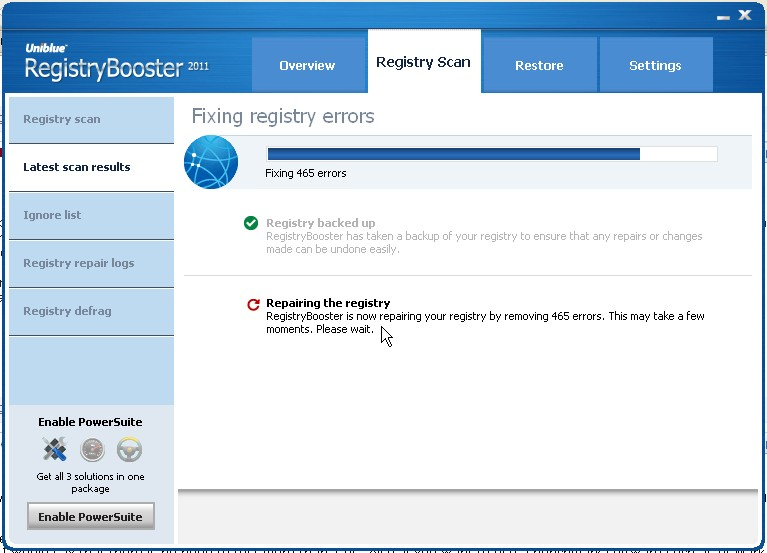 registry booster repair